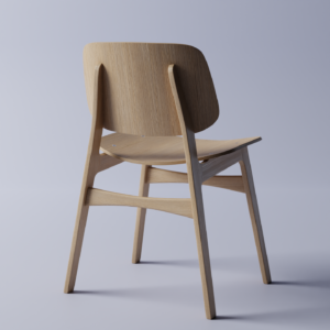 Designer Chair 3D model - Back
