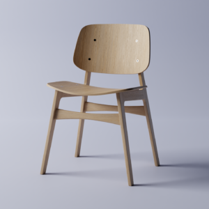 Designer Chair 3D model - Front